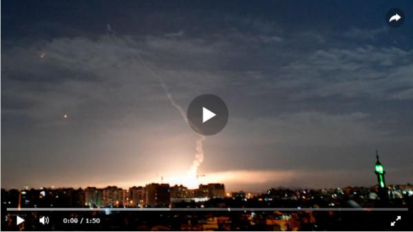 ПРО Сирии отбили очередной налет израильской авиации