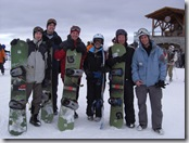 The snowboarding group with our instructor on Whistler Mountain.