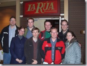The group photo in front of La Rua, completing the annual tradition.