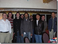 The DevDiv China leadership team with Jason Zander and Larry Sullivan for dinner.