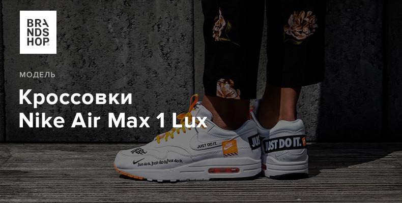 История модели кроссовок Nike Air Max 1 Lux