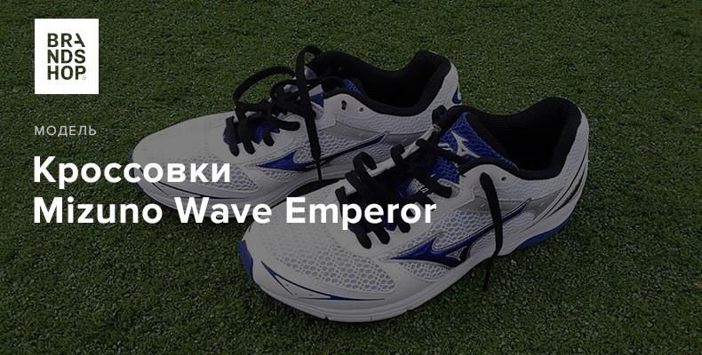 История модели кроссовок Mizuno Wave Emperor