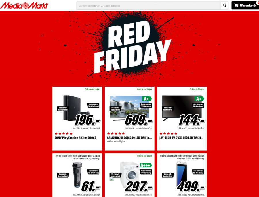 Red Friday Media Markt
