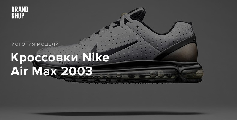 История модели кроссовок Nike Air Max 2003