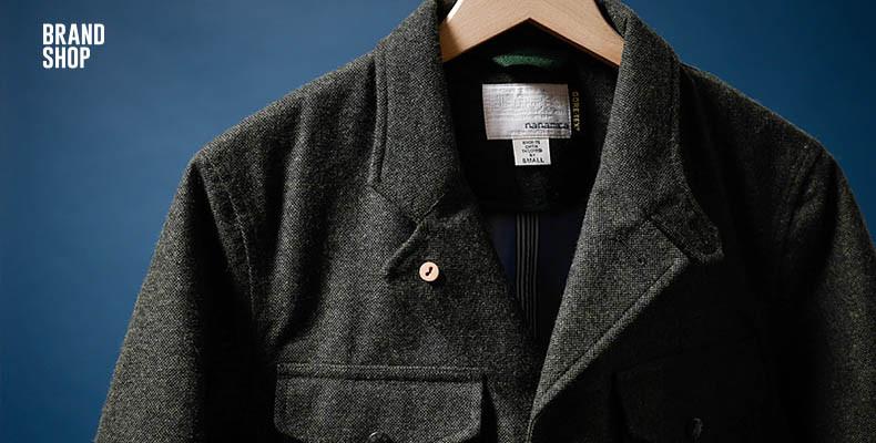 твидовый пиджак Nanamica
