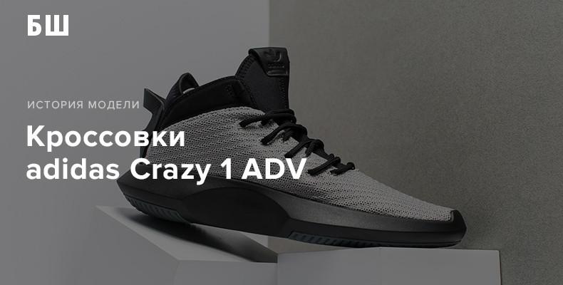 История модели кроссовок adidas Crazy 1 ADV