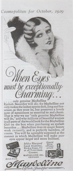 Maybelline-1929 Cosmo ad