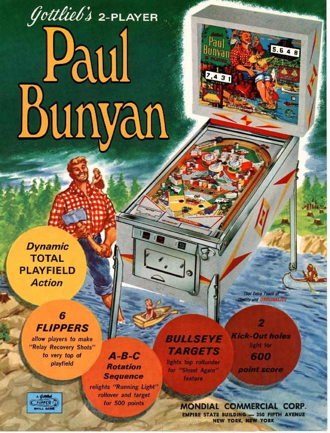 1968-Paul Bunyan pinball