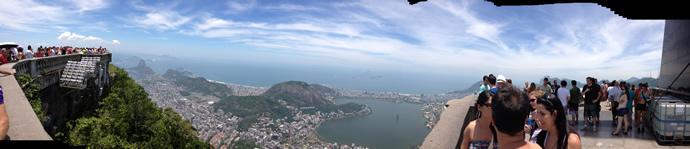 Панорама с горы Корковадо, Рио-де-Жанейро