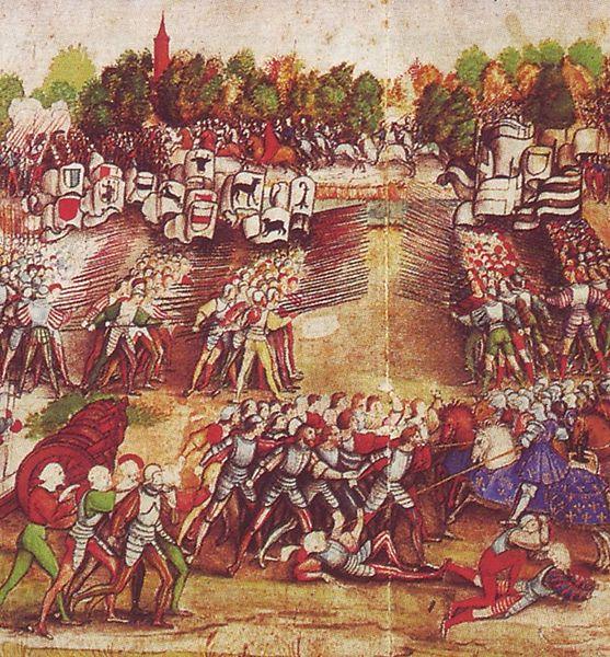 Швейцарская пехота в бою