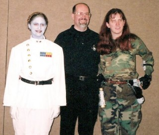 Me as Thrawn, Timothy Zahn - the author who created Thrawn, and some random person as Mara Jade - another Zahn created character