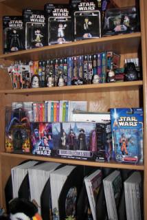 My Star Wars bookshelf in Virginia