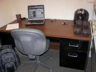 My desk in my school office