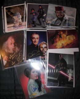A few autographs