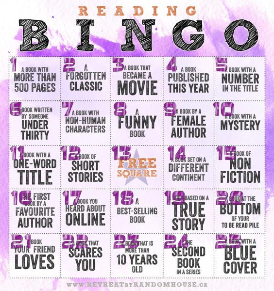 2014 Reading Bingo