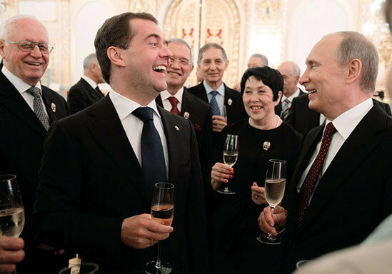 President Putin and Prime Minister Medvedev celebrate Russia Day in Moscow