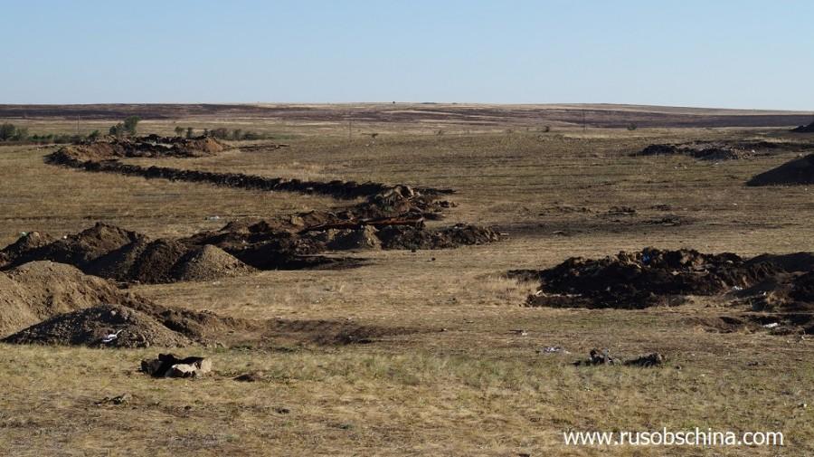 Уничтоженные позиции армии укропов