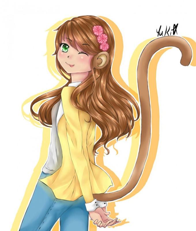 monkey_girl_by_yuki_sama_kawaii-d9l2wpj