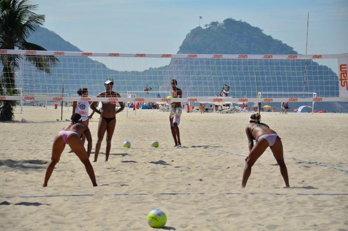 Пляж Копакабана в Рио-де-Жанейро подробная
