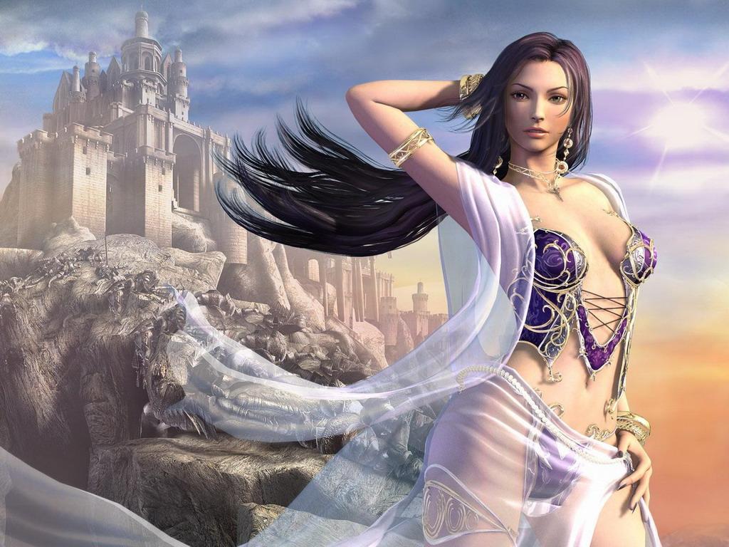 Бал Континента. Экзотические наряды fantasy_girls_430