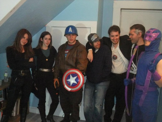 Avengers, assemble... in Phoebe's bedroom