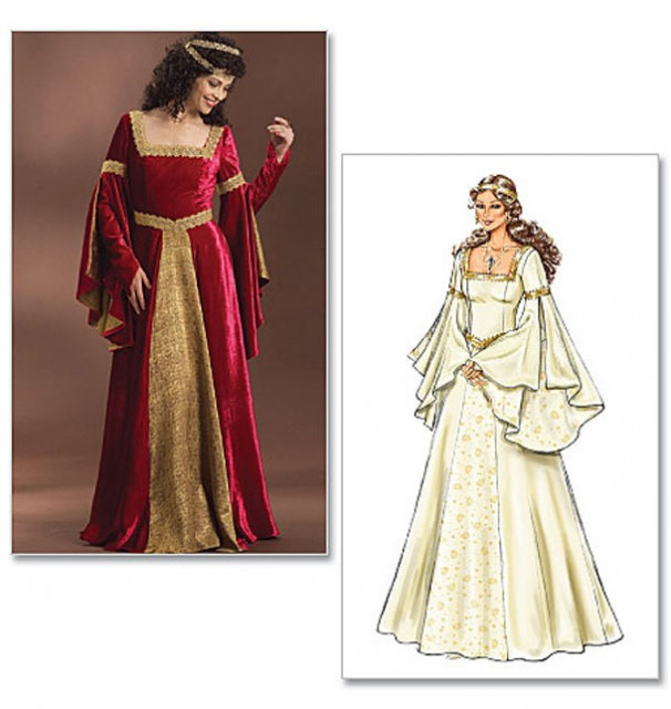 Renaissance Bridal Gown Sewing Pattern Princess Dress: Breaking Light Productions: Regency And Renaissance