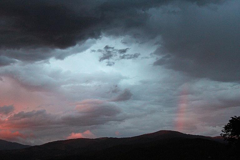 NM sunset rainbow