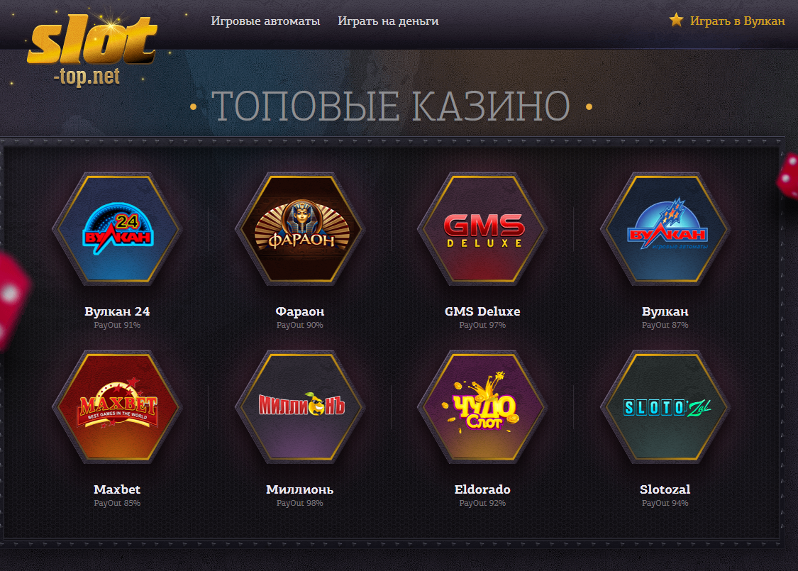Игровые автоматы онлайн от Slot-Top с бесплатной игрой