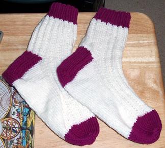 Knitting Olympics socks