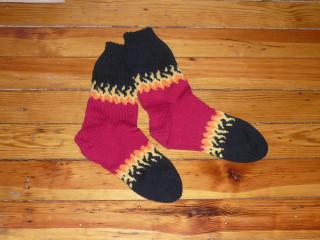 Bitchin' flames socks