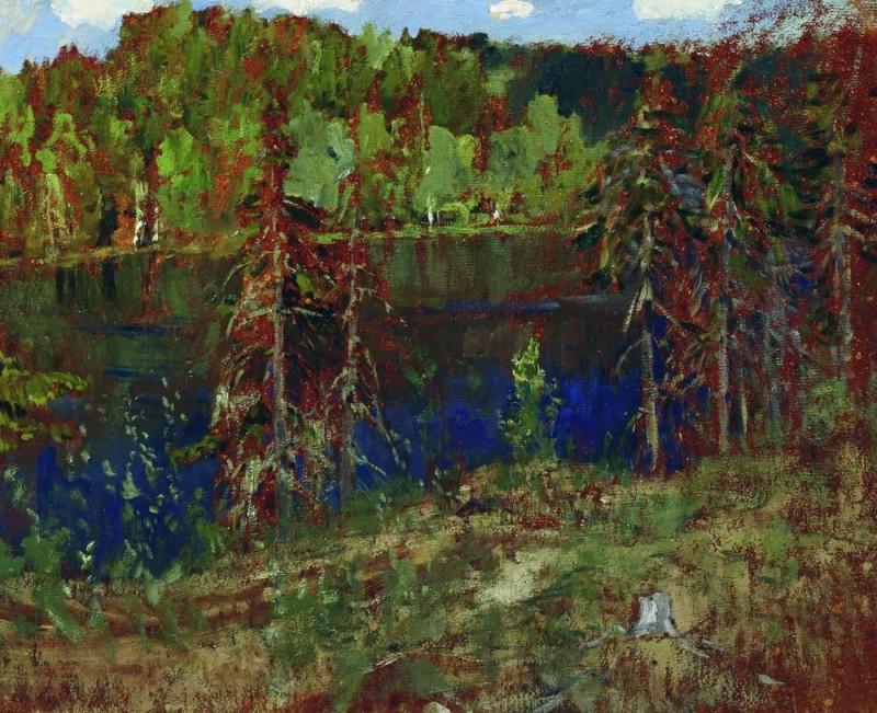 Исаак Левитан. Озеро в лесу.