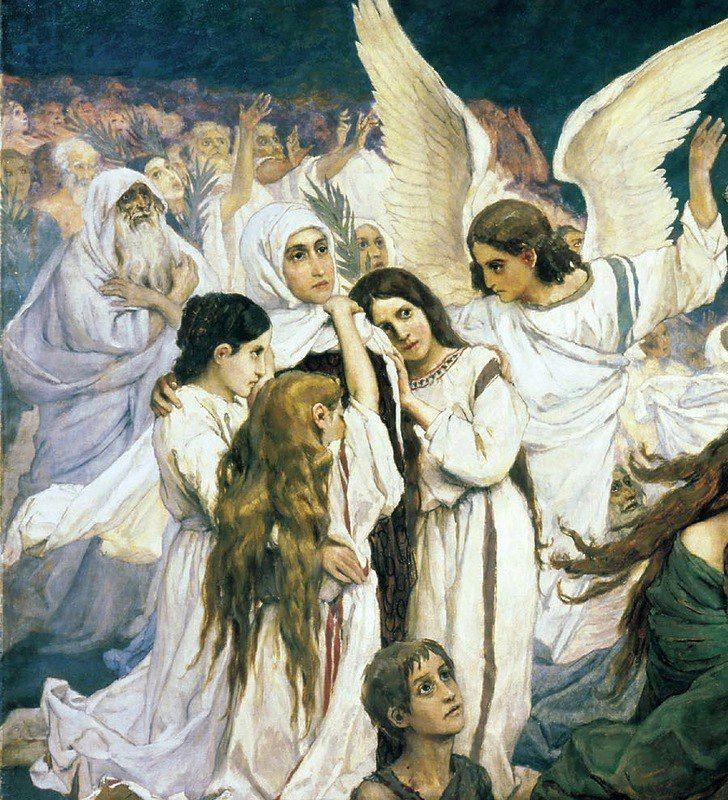 Виктор Васнецов. Радость праведных о Господе. Преддверие рая.