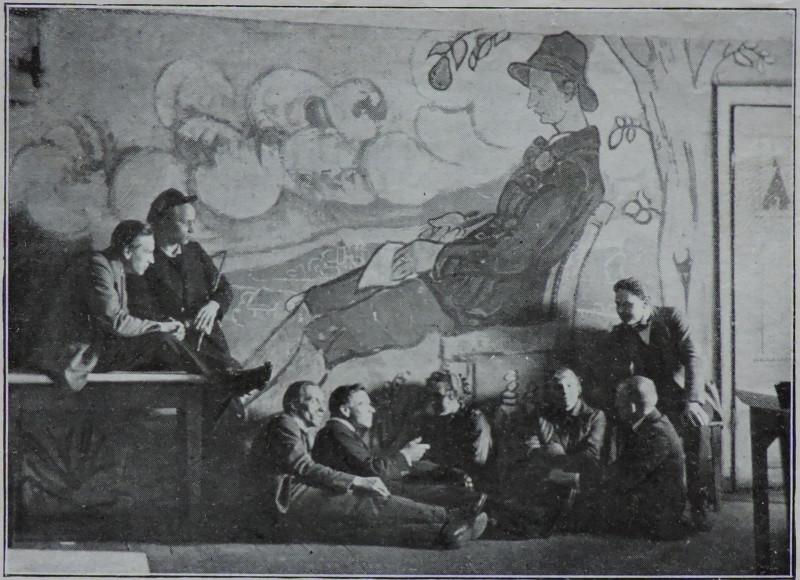 """Вот, это """"Панно Вилколакис"""", или портрет Балиса Сруоги работы Ольги Шведе-Дубенецкене. 1919г."""