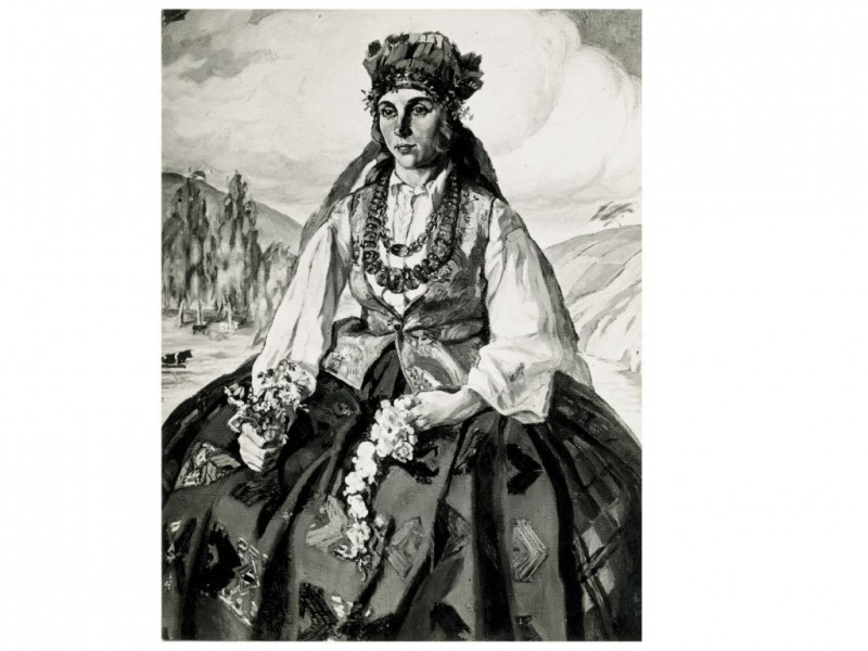 О.И. Шведе-Дубенецкене-Калпокене. Портрет оперной певицы Аделе Незабитаускайте-Галаунене (1899–1962). 1923 г. Находится в семье потомков певицы. Нью-Йорк.