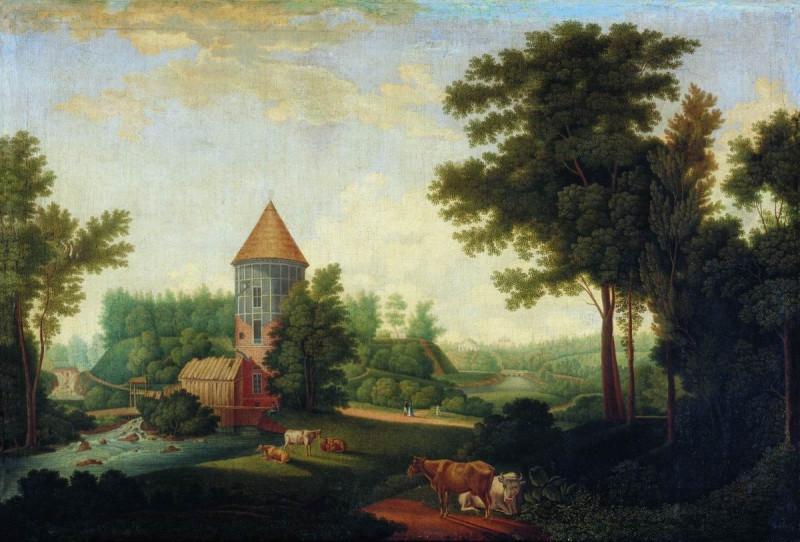 Ческий Иван Васильевич (1777—1848).  (Chesky Ivan). Вид Пильбашни в Павловске. 1803 г.