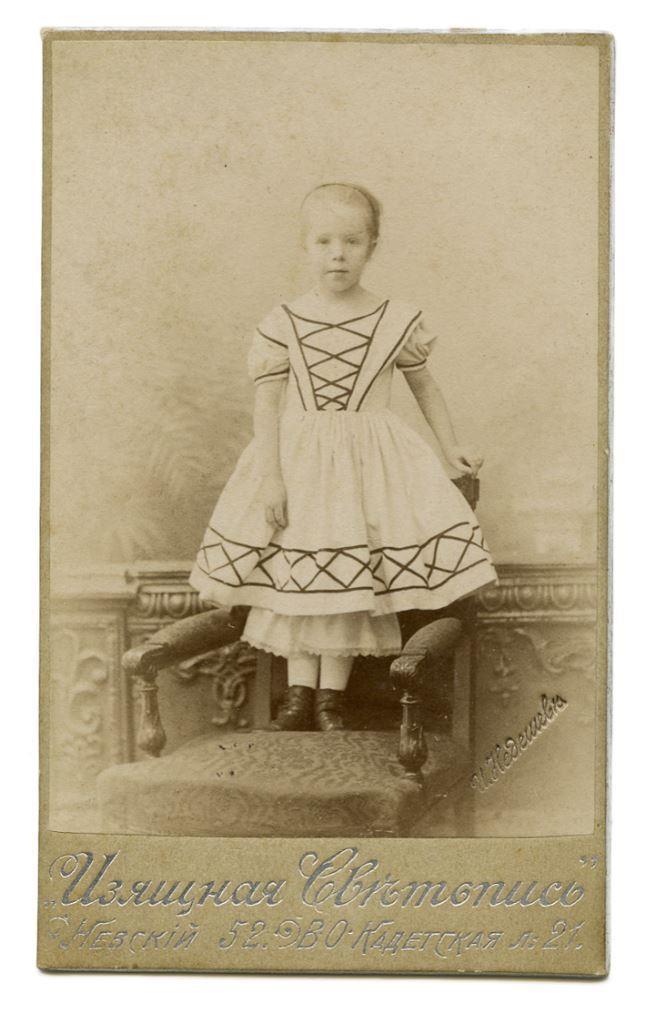 Таня Шведе. Ок. 1902 г. Ей 5-6 лет.