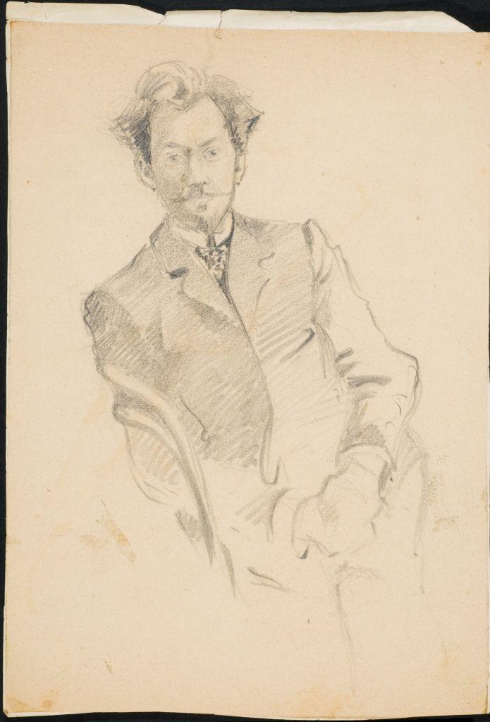 Вячеслав Иванов. Рис. О.И.Шведе-Дубенецкене-Калпокене. 1910е.