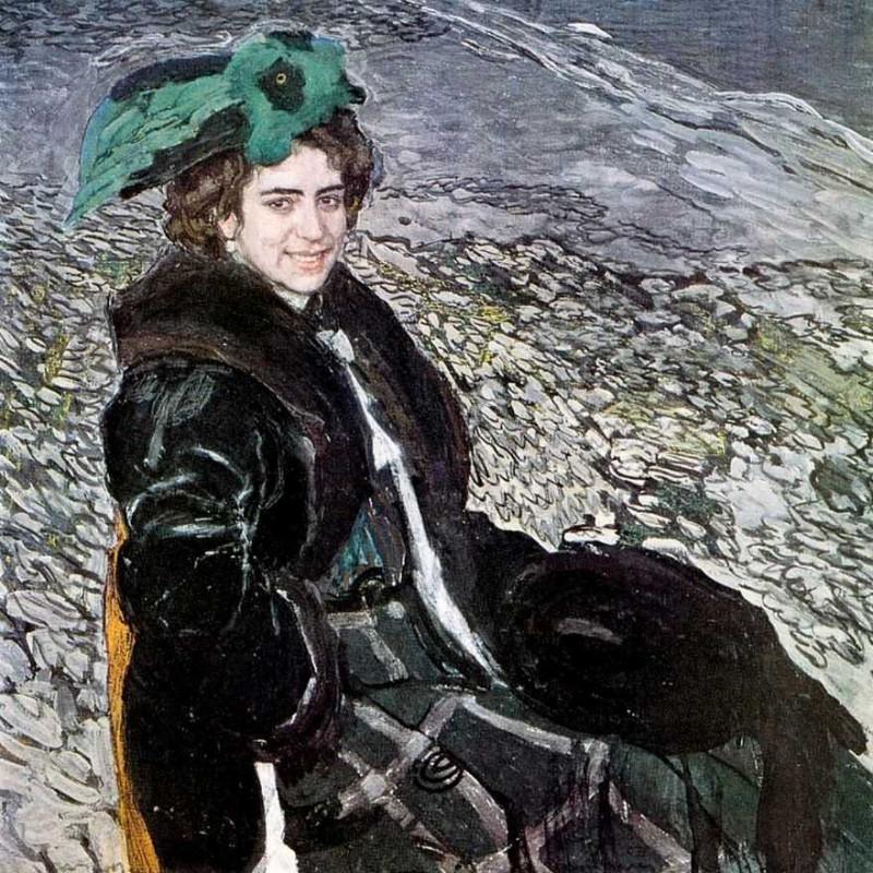 Александр Головин. Портрет балерины Елены Смирновой. 1910г.