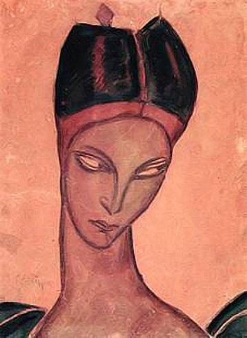 Израиль Мексин (1896—1937). Портрет Эльзы Крюгер. 1917г.