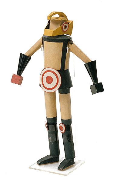 """А.Экстер. Модель костюма марсианского стража для фильма """"Аэлита""""."""