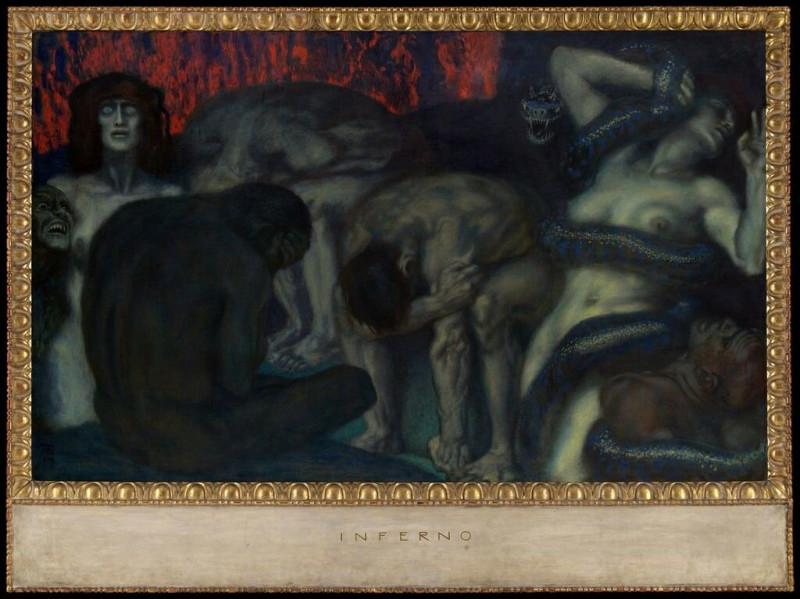 Франц фон Штук. Инферно (Ад). 1908