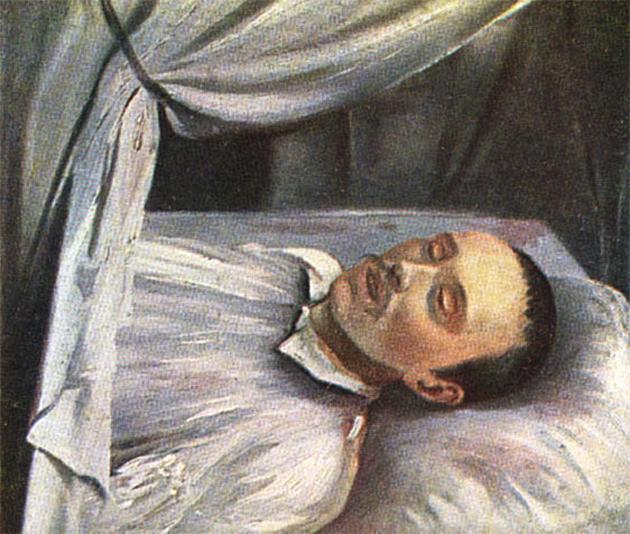 Роберт (Роман) Густавович Шведе (1806 -1870), «Лермонтов на смертном одре».