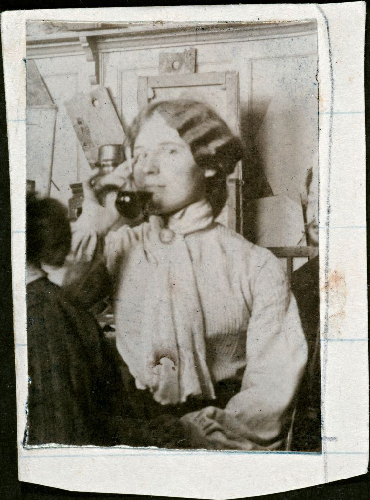О.И.Шведе в студии живописи Дмитриева-Кавказского. Ок. 1905г.