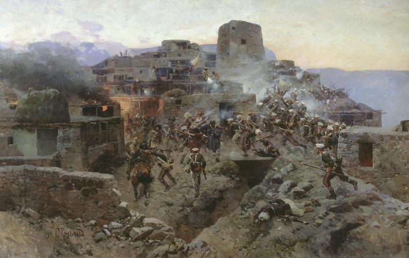 Ф.А. Рубо. «Штурм аула Гимры», 1891