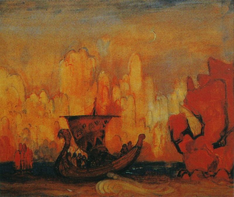 Анисфельд Борис. Плывущий корабль. 1914