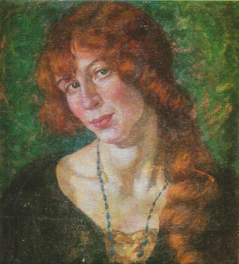 П.Калпокас. Портрет Т.И.Шведе. 1927г.