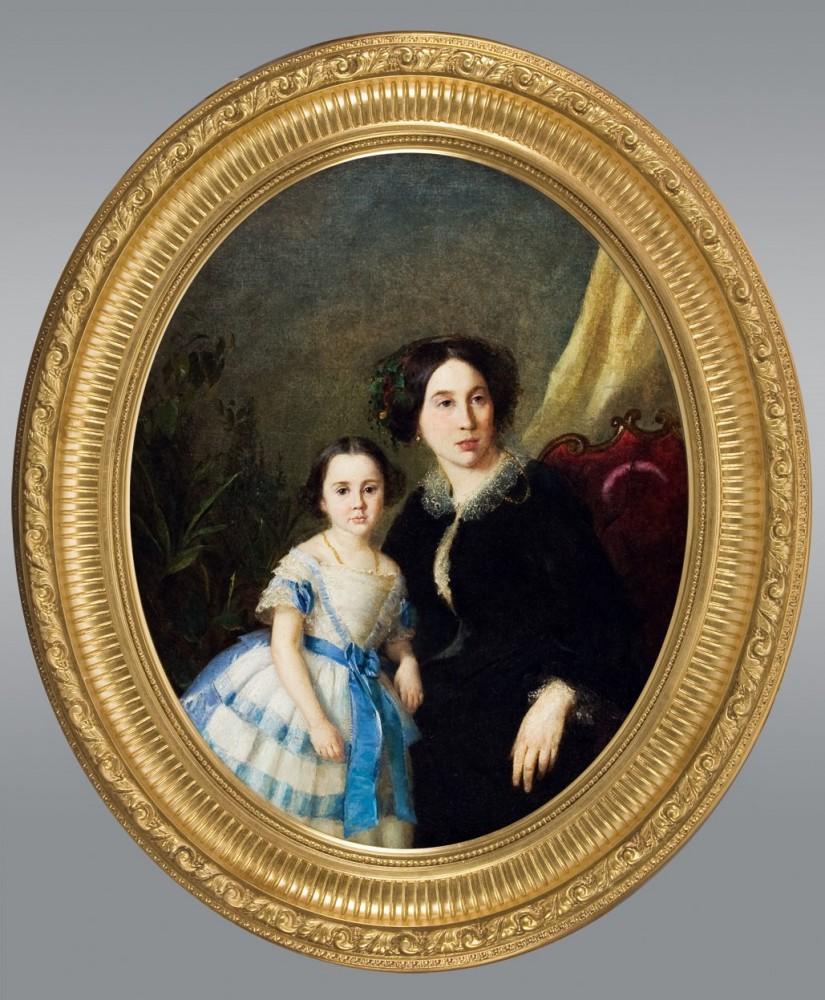 Роберт Шведе. Портрет дамы с ребенком.