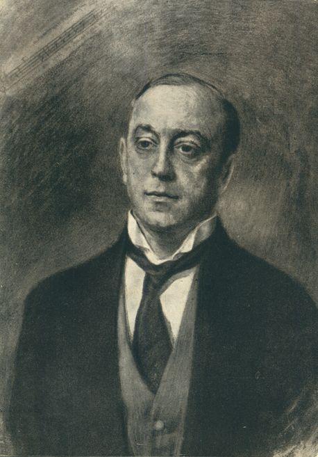 В. Н. Мешков. Портрет Л.В. Собинова. 1917г.