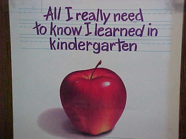 00031bk9 - Everything I Know I Learned In Kindergarten