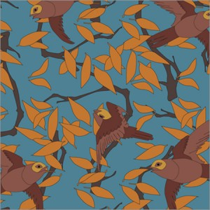 Allover-Textile-Print-Bird